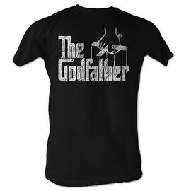The Godfather - Distress Logo Copy Black T-Shirt
