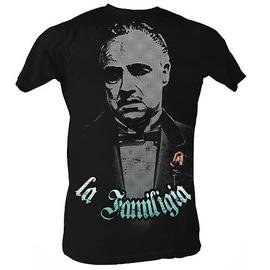 The Godfather - La Familigia Black T-Shirt