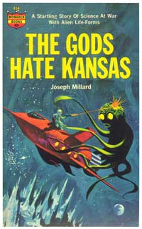 The Gods Hate Kansas - 11 x 17 Retro Book Cover Poster