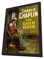 The Gold Rush - 27 x 40 Movie Poster - Style B - in Deluxe Wood Frame
