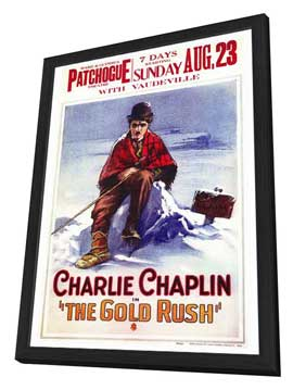 The Gold Rush - 27 x 40 Movie Poster - Style A - in Deluxe Wood Frame