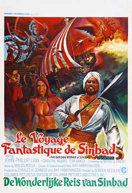 The Golden Voyage of Sinbad - 27 x 40 Movie Poster - Belgian Style A