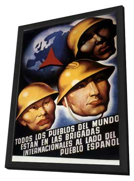 Good Fight: The Abraham Lincoln Brigade in the Spanish Civil War, The - 11 x 17 Movie Poster - Spanish Style A - in Deluxe Wood Frame
