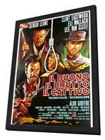 The Good, the Bad and the Ugly - 11 x 17 Poster - Foreign - Style C - in Deluxe Wood Frame