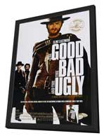The Good, the Bad and the Ugly - 27 x 40 Movie Poster - Style F - in Deluxe Wood Frame