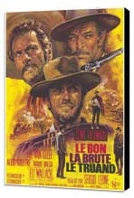 The Good, the Bad and the Ugly - 11 x 17 Movie Poster - French Style A - Museum Wrapped Canvas
