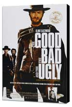 The Good, the Bad and the Ugly - 11 x 17 Movie Poster - Style F - Museum Wrapped Canvas