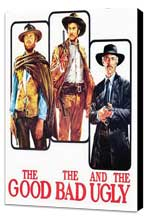 The Good, the Bad and the Ugly - 11 x 17 Movie Poster - Style M - Museum Wrapped Canvas