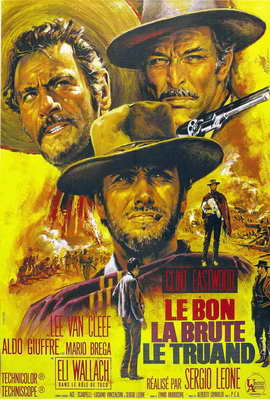 The Good, the Bad and the Ugly - 27 x 40 Movie Poster - French Style B