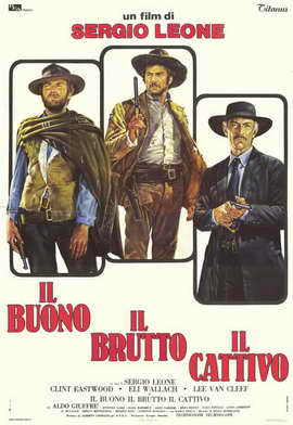 The Good, the Bad and the Ugly - 11 x 17 Movie Poster - Italian Style A