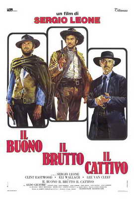 The Good, the Bad and the Ugly - 27 x 40 Movie Poster - Italian Style B