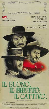 The Good, the Bad and the Ugly - 8 x 17 Movie Poster - Italian Style A
