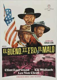 The Good, the Bad and the Ugly - 43 x 62 Movie Poster - Spanish Style A