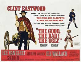 The Good, the Bad and the Ugly - 30 x 40 Movie Poster UK - Style B