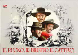 The Good, the Bad and the Ugly - 27 x 40 Movie Poster - Italian Style D