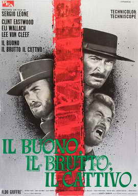 The Good, the Bad and the Ugly - 27 x 40 Movie Poster - Italian Style E