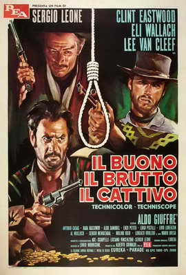 The Good, the Bad and the Ugly - 27 x 40 Movie Poster - Italian Style F