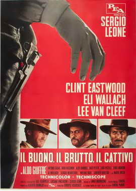 The Good, the Bad and the Ugly - 27 x 40 Movie Poster - Italian Style G