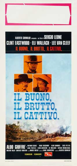 The Good, the Bad and the Ugly - 11 x 17 Movie Poster - Italian Style C