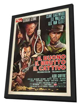 The Good, the Bad and the Ugly - 27 x 40 Movie Poster - Italian Style F - in Deluxe Wood Frame