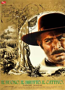 The Good, the Bad and the Ugly - 27 x 40 Movie Poster - Italian Style H
