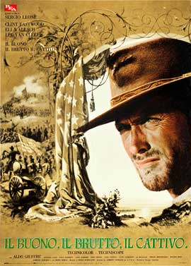 The Good, the Bad and the Ugly - 27 x 40 Movie Poster - Italian Style J