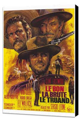 The Good, the Bad and the Ugly - 27 x 40 Movie Poster - French Style B - Museum Wrapped Canvas