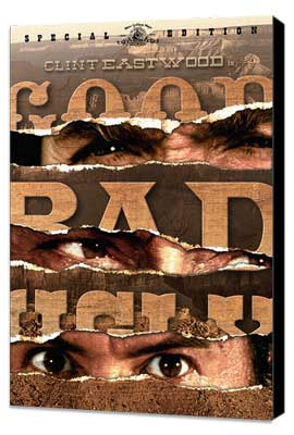The Good, the Bad and the Ugly - 27 x 40 Movie Poster - Style E - Museum Wrapped Canvas