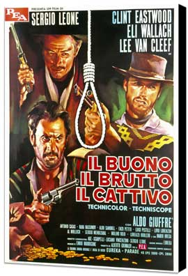 The Good, the Bad and the Ugly - 27 x 40 Movie Poster - Italian Style F - Museum Wrapped Canvas