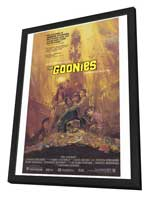 The Goonies - 27 x 40 Movie Poster - Style B - in Deluxe Wood Frame