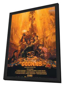 The Goonies - 11 x 17 Movie Poster - Style C - in Deluxe Wood Frame