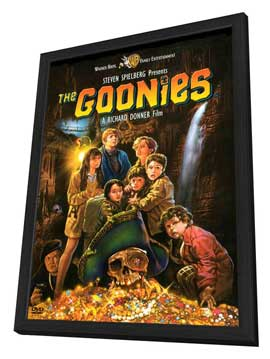 The Goonies - 11 x 17 Movie Poster - Style D - in Deluxe Wood Frame