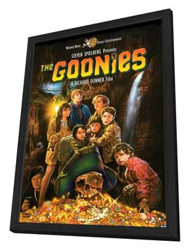 The Goonies - 27 x 40 Movie Poster - Style C - in Deluxe Wood Frame