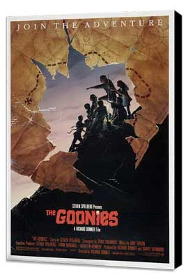 The Goonies - 11 x 17 Movie Poster - Style E - Museum Wrapped Canvas