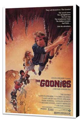 The Goonies - 27 x 40 Movie Poster - Style A - Museum Wrapped Canvas