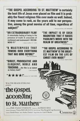 The Gospel According to St. Matthew - 27 x 40 Movie Poster - Style A