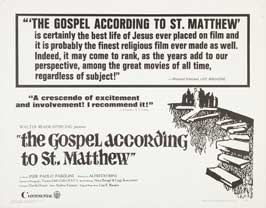 The Gospel According to St. Matthew - 11 x 14 Movie Poster - Style A