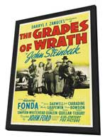 The Grapes of Wrath - 27 x 40 Movie Poster - Style B - in Deluxe Wood Frame