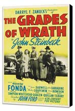 The Grapes of Wrath - 27 x 40 Movie Poster - Style B - Museum Wrapped Canvas