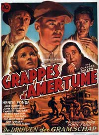 The Grapes of Wrath - 27 x 40 Movie Poster - Belgian Style A