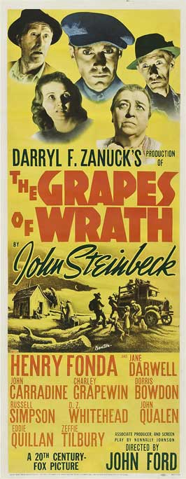 The Grapes of Wrath - 14 x 36 Movie Poster - Insert Style A