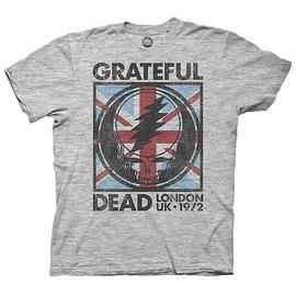 The Grateful Dead - London UK 1972 Vintage Gray T-Shirt