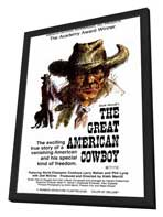 The Great American Cowboy - 27 x 40 Movie Poster - Style A - in Deluxe Wood Frame