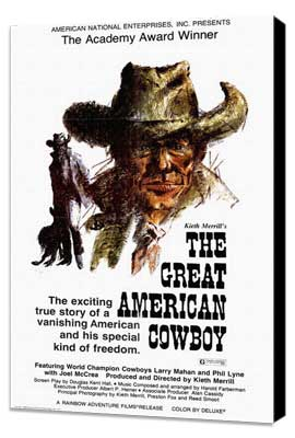 The Great American Cowboy - 27 x 40 Movie Poster - Style A - Museum Wrapped Canvas