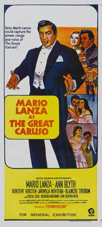 The Great Caruso - 11 x 17 Movie Poster - Australian Style A