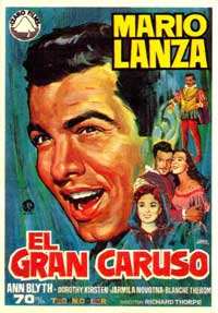 The Great Caruso - 11 x 17 Movie Poster - Spanish Style A