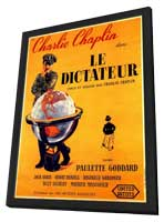 The Great Dictator - 11 x 17 Movie Poster - French Style A - in Deluxe Wood Frame
