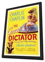 The Great Dictator - 27 x 40 Movie Poster - Style A - in Deluxe Wood Frame