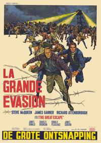 The Great Escape - 11 x 17 Movie Poster - Belgian Style A