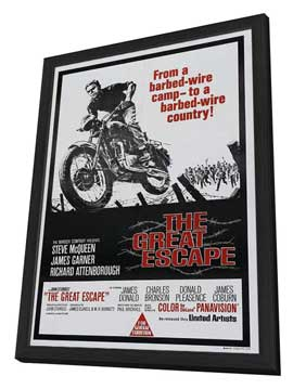 The Great Escape - 11 x 17 Movie Poster - Australian Style A - in Deluxe Wood Frame